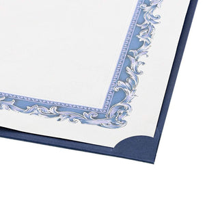 Paper Junkie 24 Pack Certificate Holder Letter-Sized Diploma Cover - Navy Blue