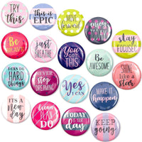 18Pcs Inspirational Quote Decorative Magnets for Fridge Refrigerator Locker
