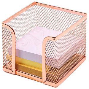 Paper Junkie Mesh Desk Organizer Accessories– Pack of 5, Rose Gold