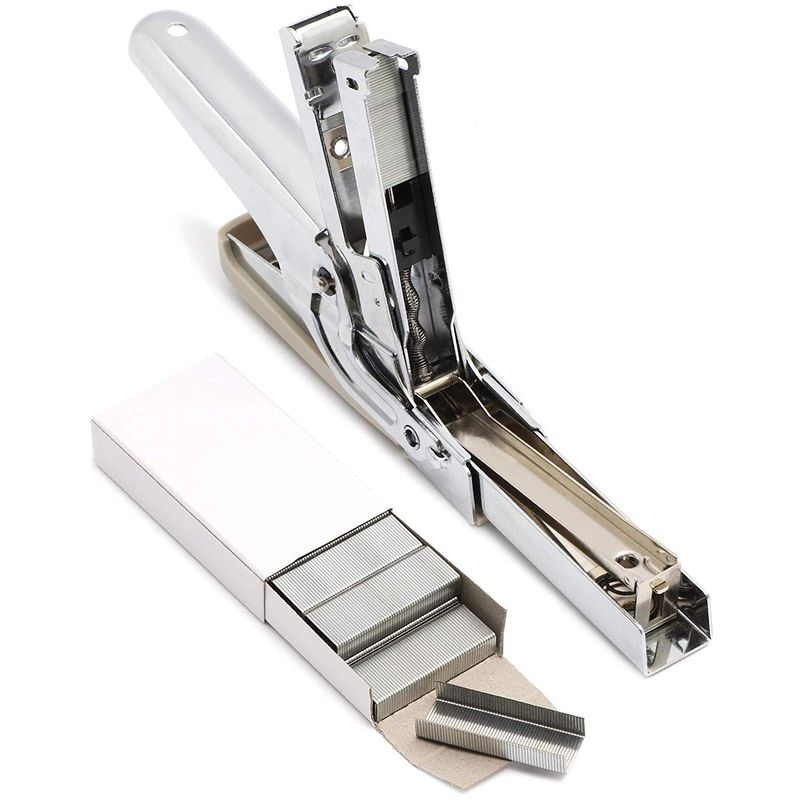 Desktop Stapler Set with 5 Boxes of Staples Refill for School Office Home