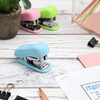 6x Stapler Durable and Portable for School Office Home Travel Mini Small Pastel