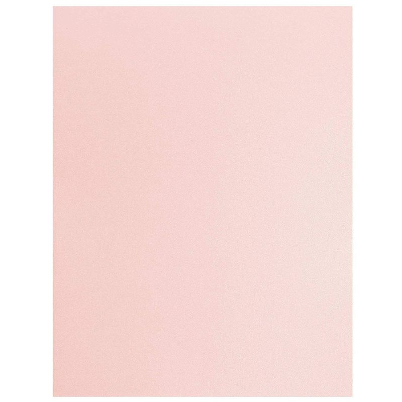 Pink Metallic Cardstock Paper for Card Making (8.5 x 11 In, 48 Sheets)