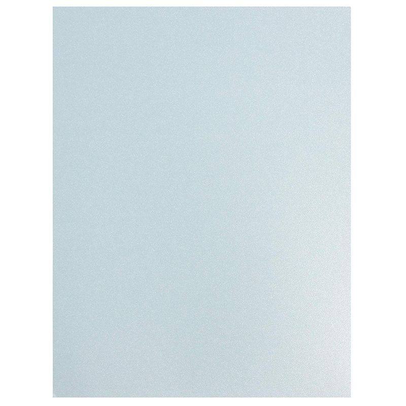 Shimmer Cardstock Paper, Arts and Crafts Supplies (Light Blue, 8.5 x 11 In, 96 Sheets)