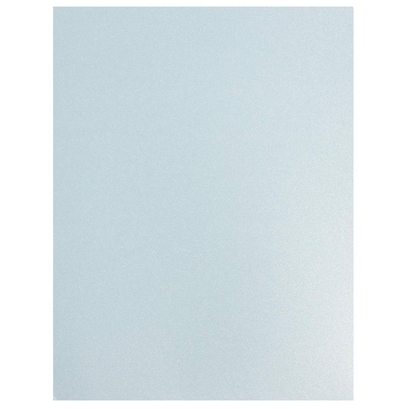 Paper Junkie Shimmer Cardstock Paper (48 Count) 8.5 x 11 Inches, Light Blue