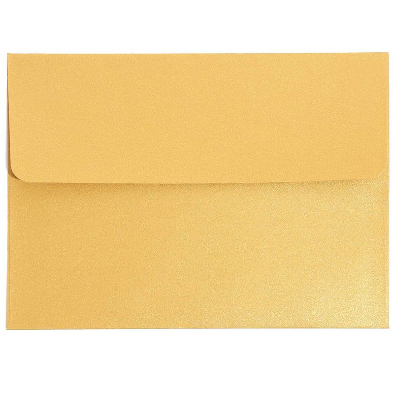 50 Pack A7 Metallic Gold Wedding Invitation Self Seal Envelopes for 5x7 Cards