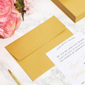 Paper Junkie Wedding Invitation Envelopes (7 1/4 x 5 1/4 in, Metallic, Gold, 50 Pack)