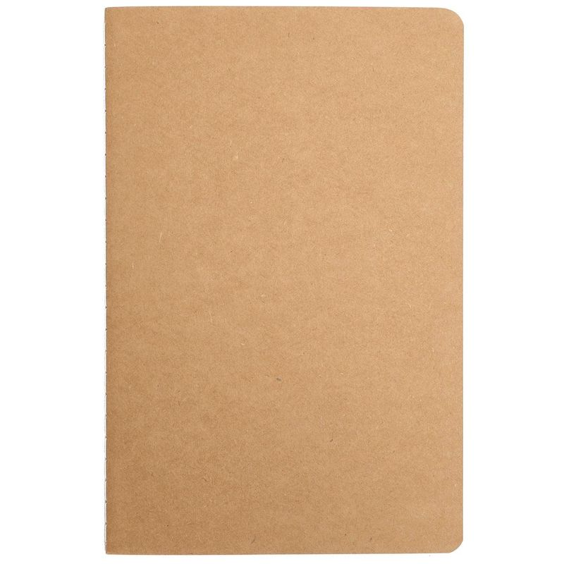 Blank Kraft Travel Journal Notebook (24 Pack)