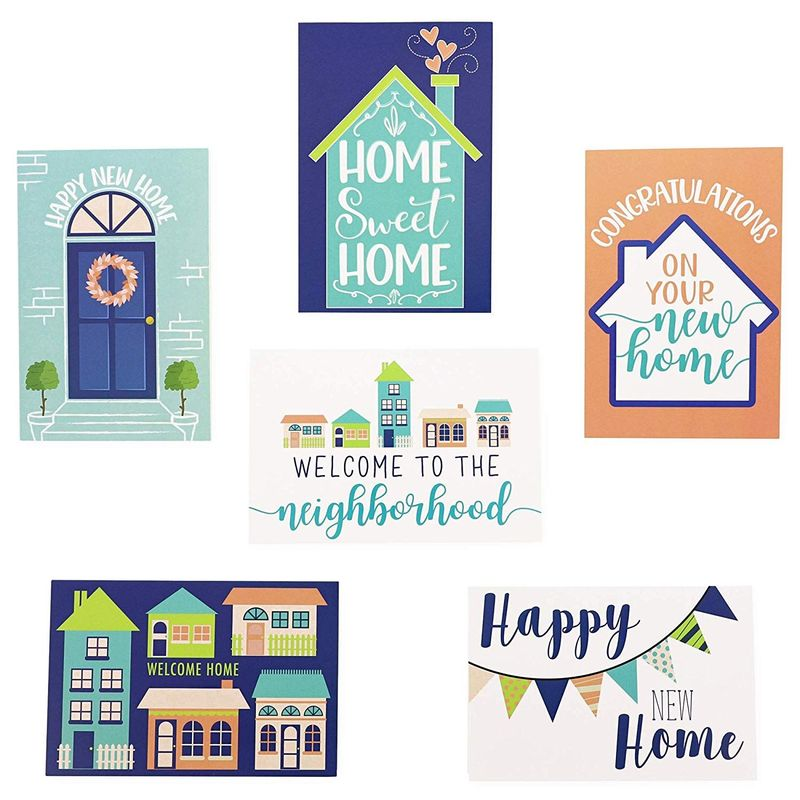 Housewarming Cards with Envelopes (4 x 6 in, 6 Designs, 48 Pack)