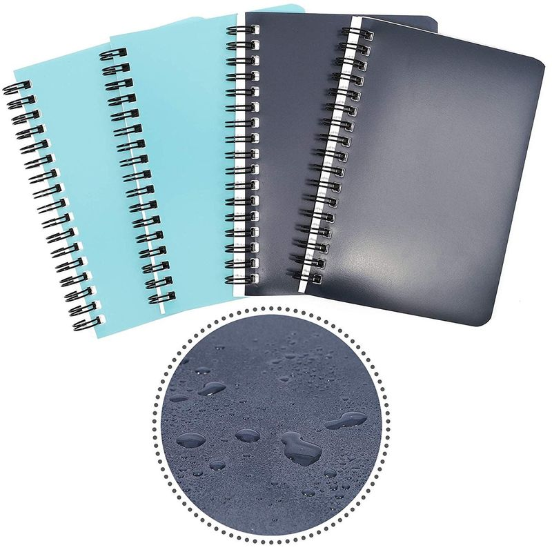 Spiral Bound Weatherproof Memo Notebook (6 x 4 in, 4 Pack)