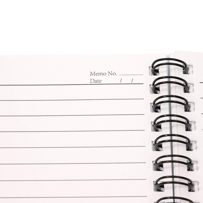 4Pack Spiral Bound Weatherproof Notepads Notebooks Memo Pad Lined Paper, 4 x 6""
