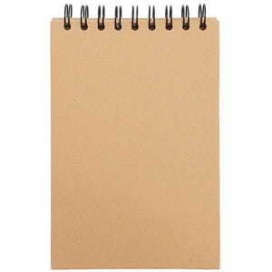 Paper Junkie Kraft Paper Cover Spiral Bound Notebook (7.8 x 5 in, Small, 4 Pack)