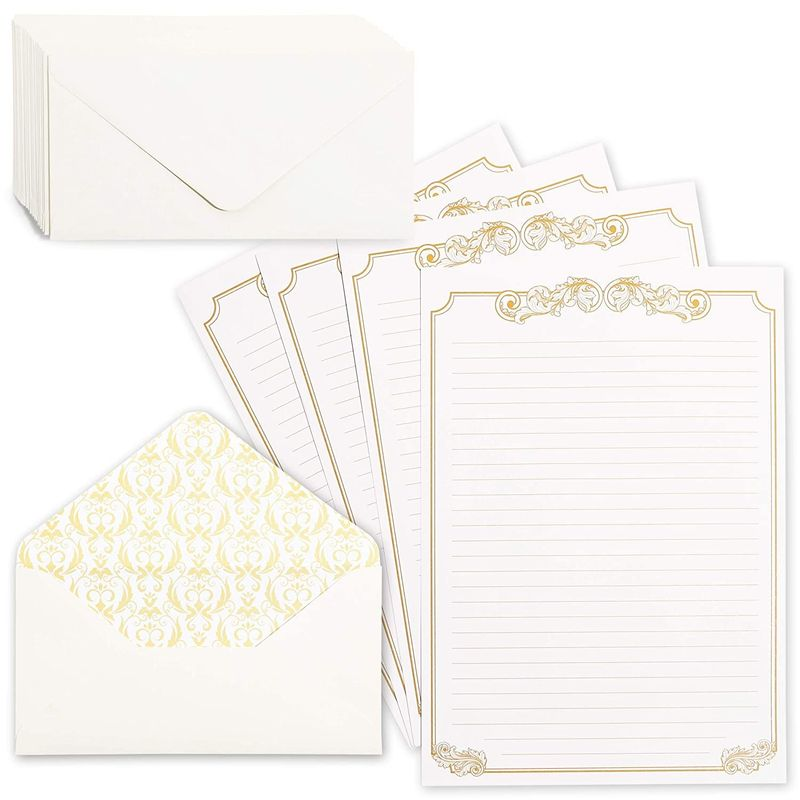 Vintage Stationery Paper and Envelope Set (Canary, 60 Sheets)