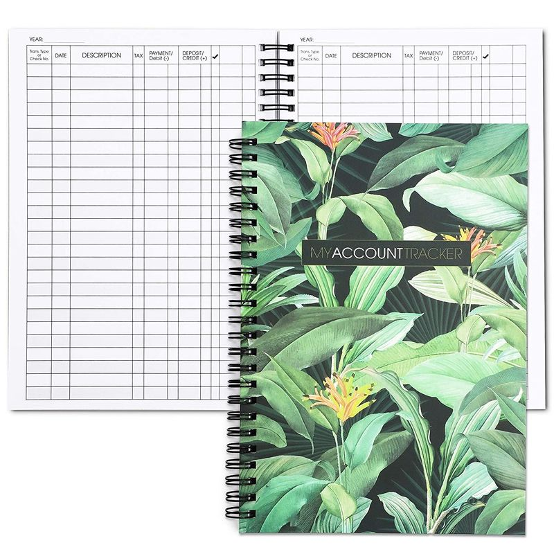 Foliage Accounting Ledger Book (50 Sheets, 2 Pack)