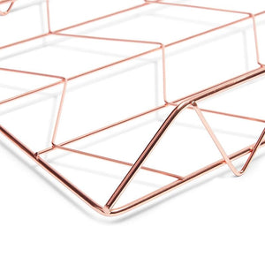 Paper Junkie Paper Tray for Desk (Rose Gold, 2)