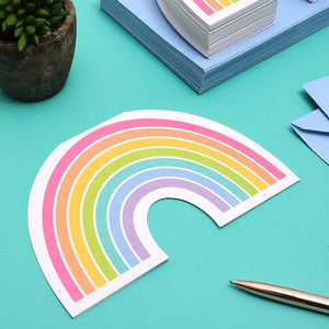 Die-Cut Rainbow Invitation Cards with Envelopes (36 Pack)