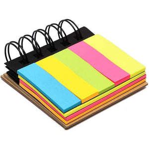 Paper Junkie Sticky Note Set with Spiral Binding (Die-Cut, 200 Sheets, 10 pack)