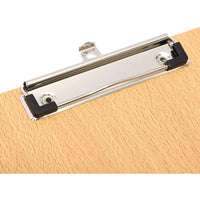 2 Pack Wooden Clipboards with Low Profile Clip for Classroom and Office Use