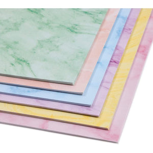 Marble Stationery Paper in 6 Colors, Letter Size (8.5 x 11 In, 96 Sheets)