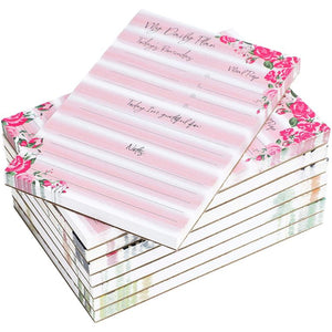 Calendar Sticky Notes for Monthly, Weekly, and Daily in Floral Print (8 Pack)
