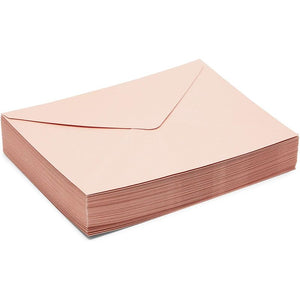 Blush Envelopes for A7 Wedding Invitations (5.25 x 7.25 in, 50 Pack)