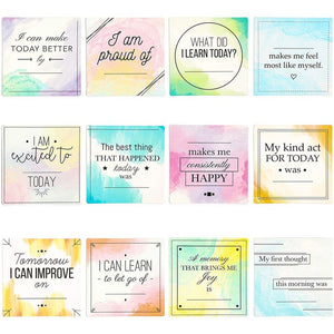 Dry Erase Magnets, Inspirational Quotes (4 x 4 Inches, 12 Pack)