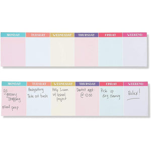 Horizontal Weekly Planner Sticky Notes (11.8 x 2.75 In, 2 Pack)