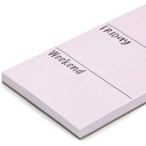 Vertical Weekly Planner Sticky Notes (Lavender, 3 x 11 Inches, 2 Pack)