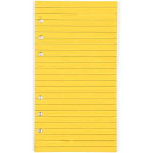Lined Binder Paper, A6 Refill 6 Hole Punch Paper (6 Colors, 240 Sheets)