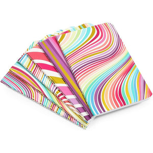 Rainbow Gold Foil Swirl Dot Journal Pocket Notebook, 32 Sheets (3.5 x 5.5 In, 6 Pack)