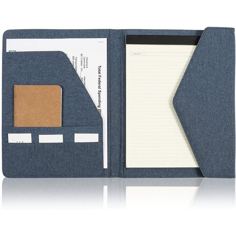 Blue Portfolio Folder, Business Padfolio Binder (12.5 x 10 i