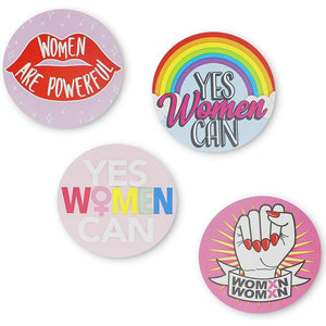 Feminist Stickers, Girl Power Sticker Roll in 8 Designs (2 Inches, 600 Pieces)