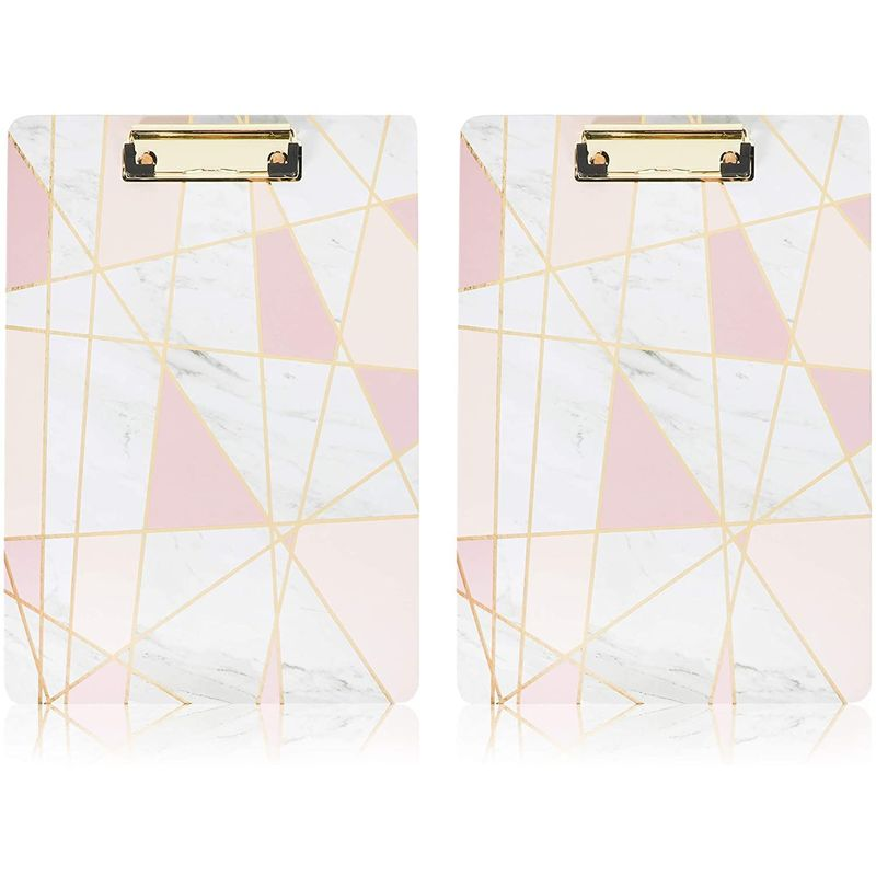 Decorative Marble Clipboards with Gold Foil (9 x 12 in, 2 Pack)