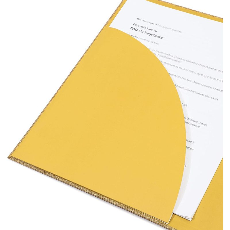 Gold 3-Ring Binder, Glitter Office Accessories (10.7 x 12 x