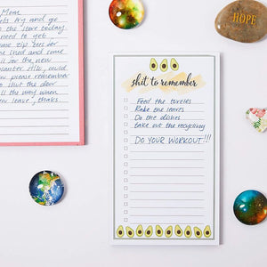 Magnetic to Do List Notepads, Grocery Lists for Fridge (4.25 x 7.5 in, 3 Pack)