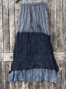 Long Skirt 2 layers 2 tone