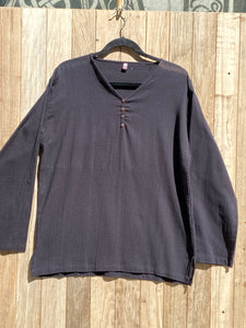 Long Sleeve V Neck 4 button Shirt