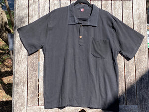Collar 2 Button Short Sleeve Shirt