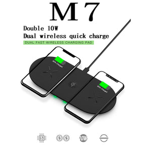 Dual-seat Wireless Charger Dual 10W Fast Charge