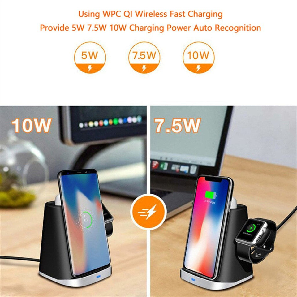 Qi Wireless Charging Charger Dock Holder for Apple