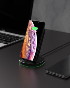 10W 7.5W 5W Dual Coils Qi Smart Wireless Fast Charger Stand Holder for