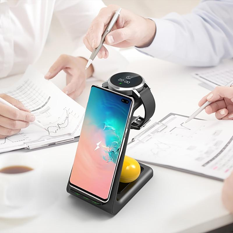 QI 3 In 1 Wireless Charger For Iphone 11/XS/X/Airpods pro/Iwatch 5/4