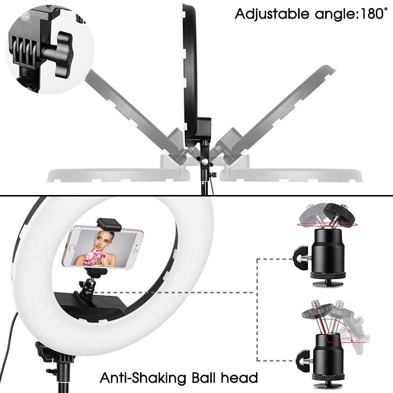 Ring lamp 14 inch with tripod ring light dimmble studio LED ring light