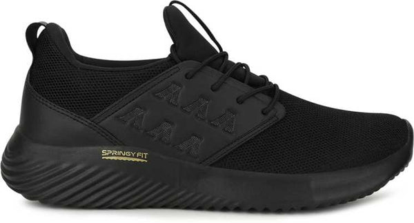 campus full black sports shoes