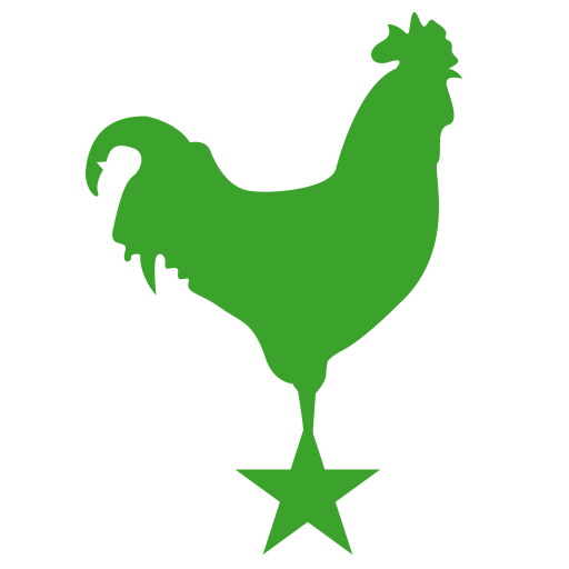 big green rooster