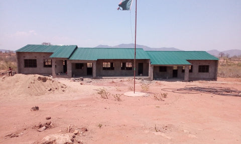 New school built with your sponsorship funds!