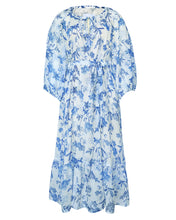 Load image into Gallery viewer, The Tiana Dress in Blue Floral