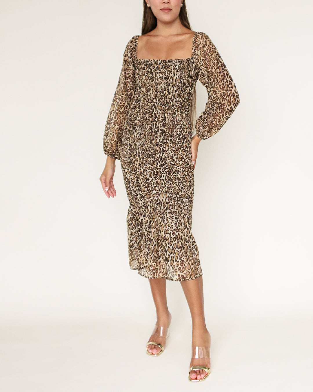 The Ariel Dress in Leopard Print