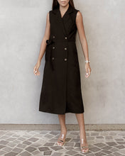 Load image into Gallery viewer, The Alex Sleeveless Trench Dress - Black
