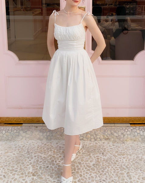 The Marilyn Dress in Solid White