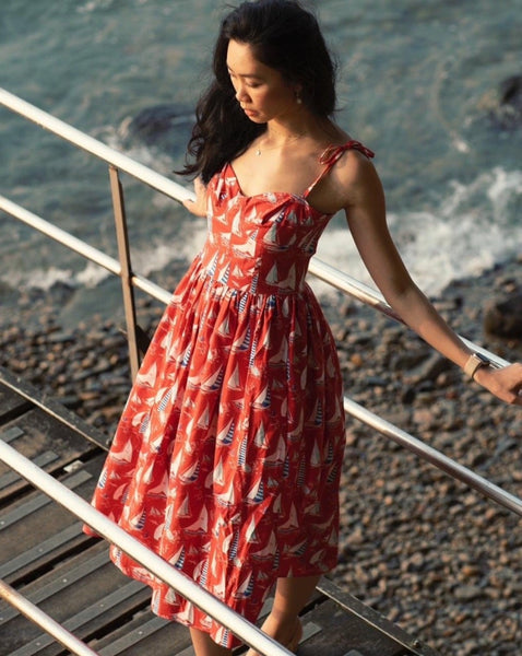 The Doris Dress in Sunny Day Sail